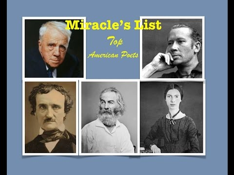 Miracle's Top five ; Great American Poets