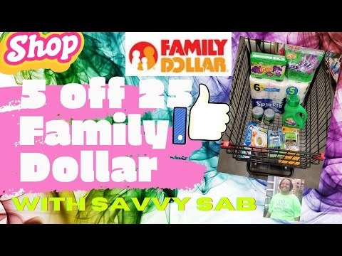 Couponing W Savvy Sab!|Family Dollar $5/$25| It's Back!! #familydollar #alldigitals #newbiedeals