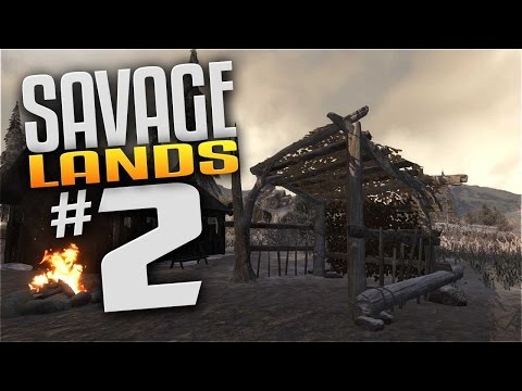 Savage Lands Gameplay - EP 2 - LEAN-TO SHELTER! (Let's Play Savage Lands)