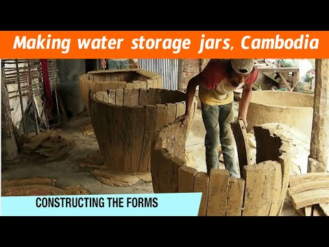 Making water storage jars, Cambodia