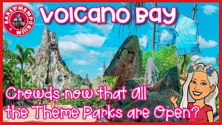 🔴LIVE:Volcano Bay. Crowds After All Theme Parks are Open?