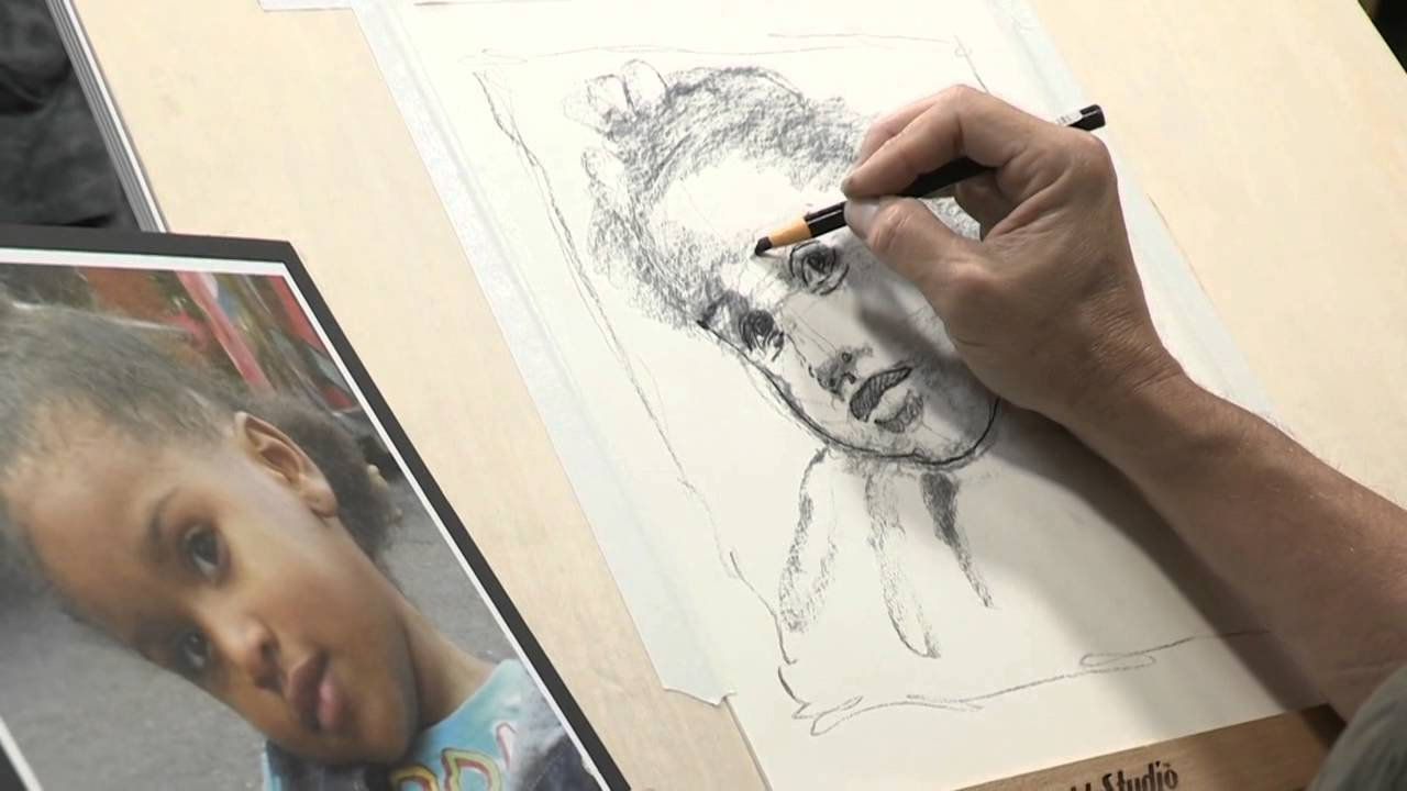 How to draw like an artist creating a portrait sketch youtube
