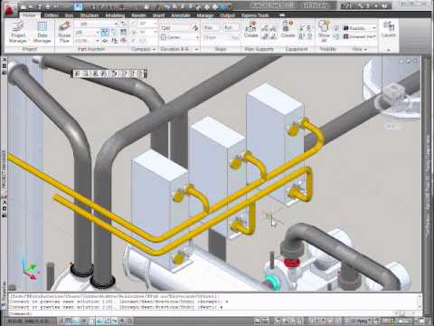 Autocad Plant 3d Manifold Pipe Routing Youtube