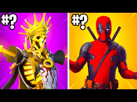 RANKING ALL SEASON 2 FORTNITE SKINS FROM WORST TO BEST!