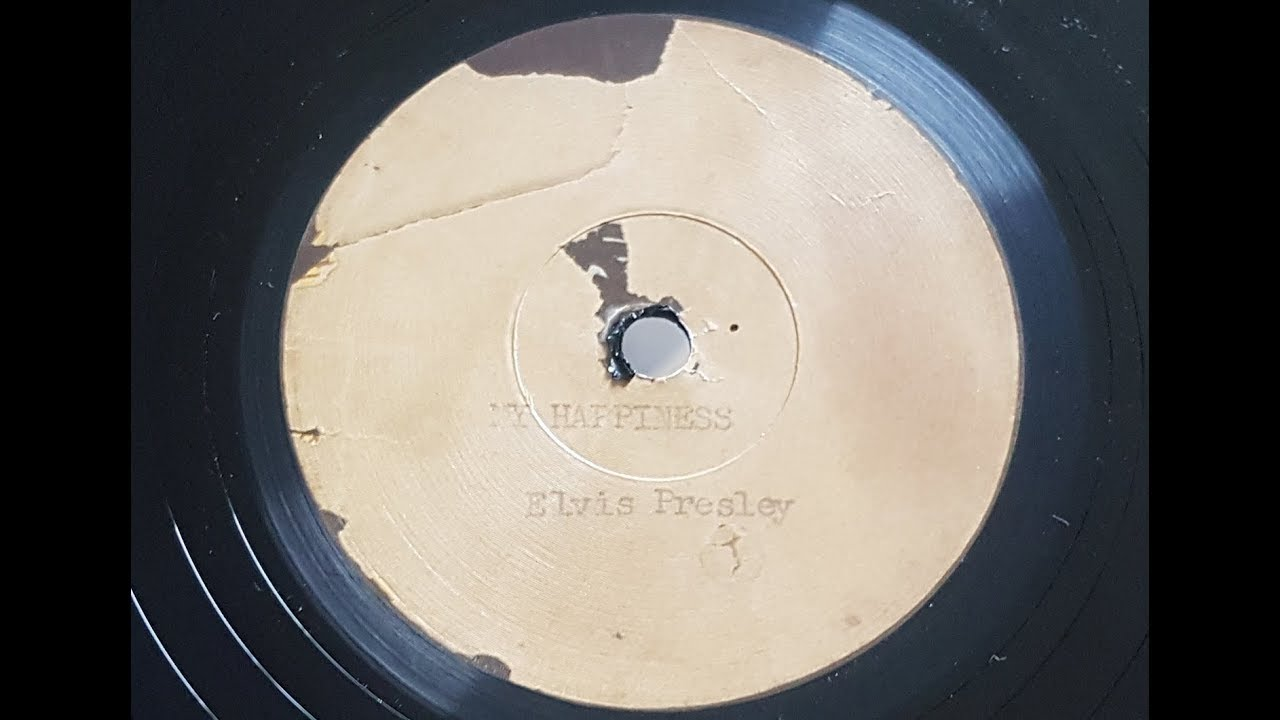 Elvis Presley 'My Happiness' Facsimile 1953 78 rpm - YouTube
