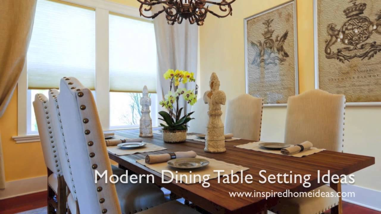 Modern Dining Table Setting Ideas - YouTube