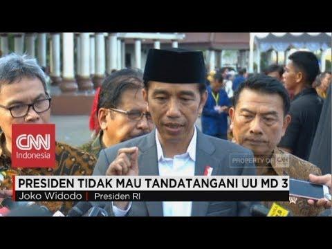 Presiden Jokowi Tak Mau Tandatangani UU MD3