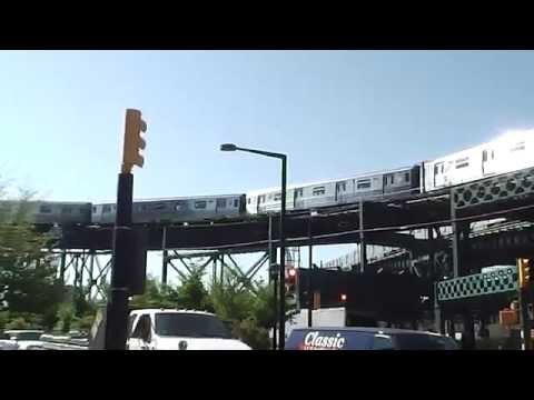 BMT Astoria Line: Manhattan-bound R68 N Train@Queensboro Plaza (Street Level)