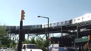 BMT Astoria Line: Manhattan-bound R68 N Train@Queensboro Plaza (Street Level)