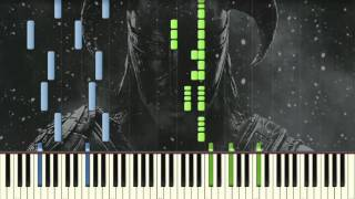 Skyrim Main Theme - Dragonborn - Piano tutorial (Synthesia)