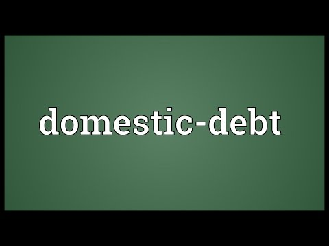 Domestic-debt Meaning
