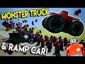 LEGO MONSTER TRUCK STUNTS & RAMP CAR! -  Brick Rigs Multiplayer Gameplay - Stunt Challenge