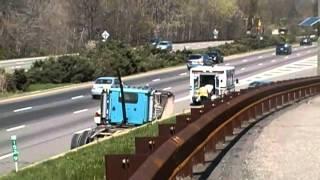 Dump Truck Runs Into Parkway Bridge Causing A Major Water Main Break In Bloomfield New Jersey