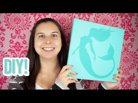 Attractive 475: DIY Mermaid Nursery Canvas Wall Art Tutorial Using The Silhouette Cameo