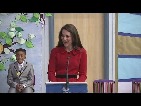 Kate's tribute to her parents during school visit