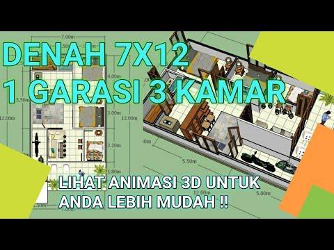 55 Gambar Desain Rumah 3 Kamar Ukuran 4X3 Gratis Terbaik Download