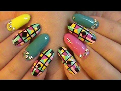 80 S Jem The Holograms Nail Art Design