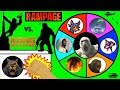 RAMPAGE vs KING KONG Slime Wheel Game | Which Ape Movie Surprise Toys Win? Kids Opening Video