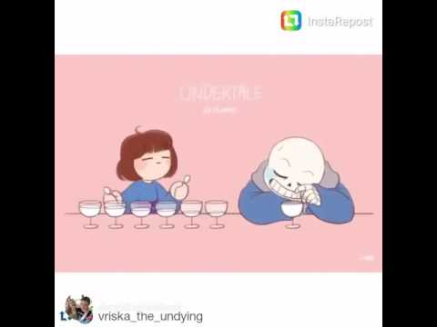 Undertale music with glass cups