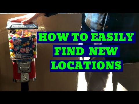 how to easily get candy / gumball / vending machine locations.