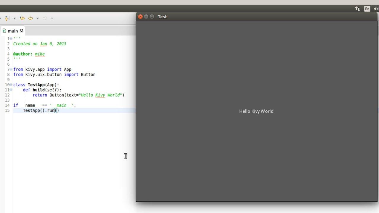Install Kivy (Python Library) in Ubuntu 14 04