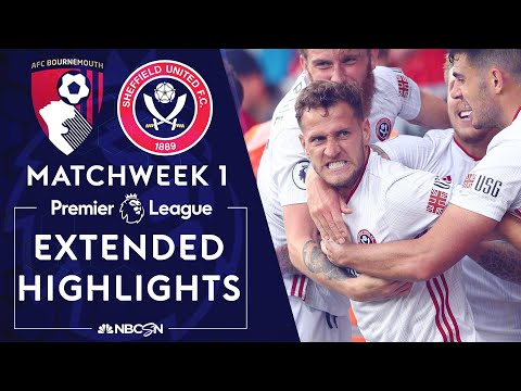 Bournemouth v. Sheffield United | PREMIER LEAGUE HIGHLIGHTS | 8/10/19 | NBC Sports