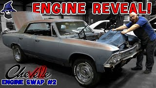 Engine Reveal! See what crazy engine the CAR WIZARD has selected to put in this '66 Chevelle Malibu