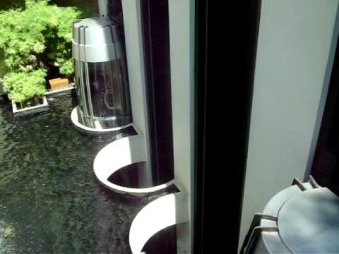AMAZING 1986 outdoor scenic Mitsubishi elevators @ Pan Pacific hotel in Singapore