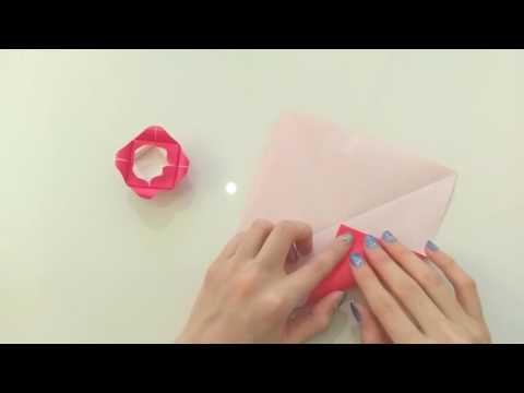 ハート 折り紙:折り紙 花 立体 バラ-popmatx.com