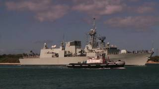 HMCS Calgary arrives in Pearl Harbor to participate in RIMPAC 2010