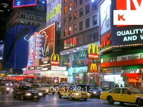 1980s New York at Night, Times Square 1989, 35mm