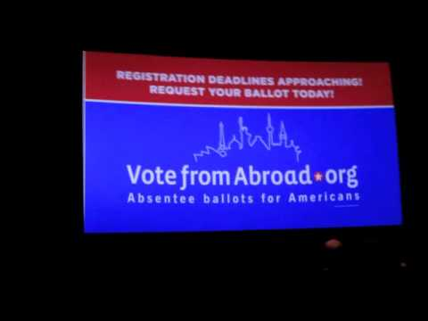 VoteFromAbroad.org Ad in movie Theaters around Germany
