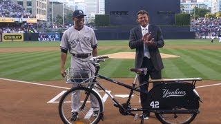 Padres Honor Mariano Rivera at Petco Park + interview w/Trevor Hoffman