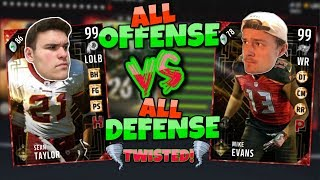 ALL OFFENSE vs ALL DEFENSE DRAFT with a TWIST!! Madden 17 Draft Champions (Jips)