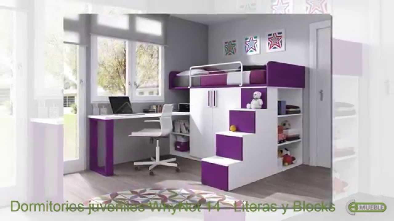 Dormitorios juveniles cat logo whynot 14 literas blocks for Dormitorios con literas