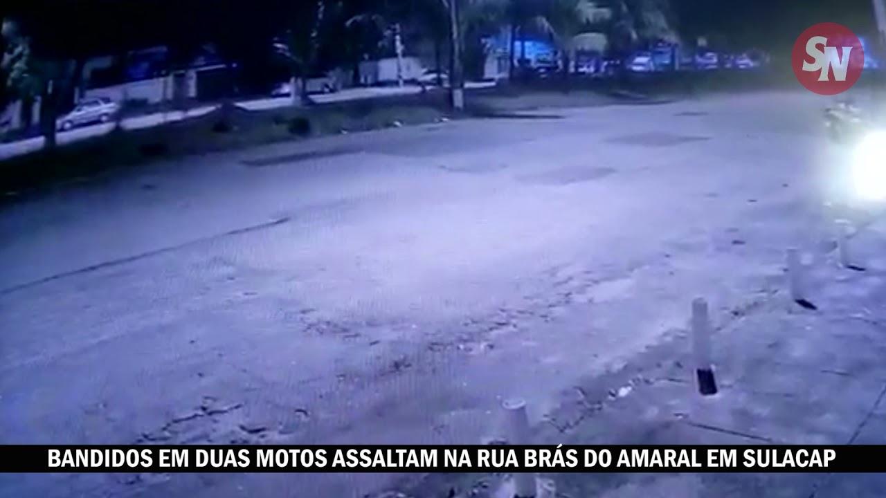 [VÍDEO] Em duas motos, bandidos assaltam em Jardim Sulacap, perto do posto BR