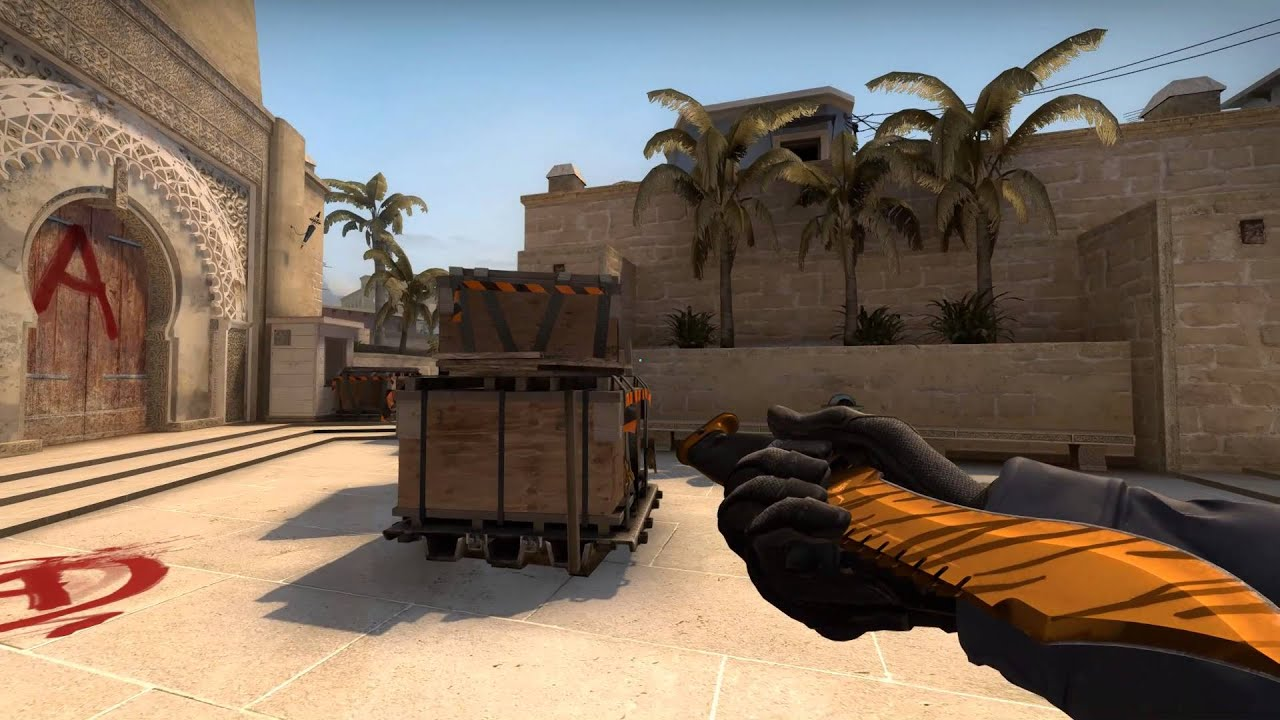 Bowie Knife Tiger Tooth Factory New Cs Go Fantasy Skin