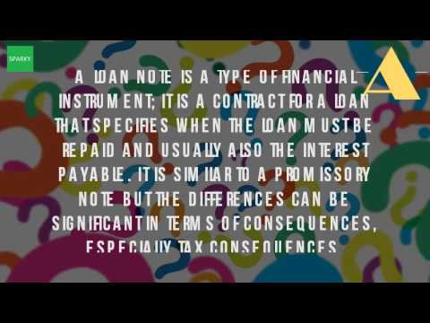 What Is A Note For A Loan?