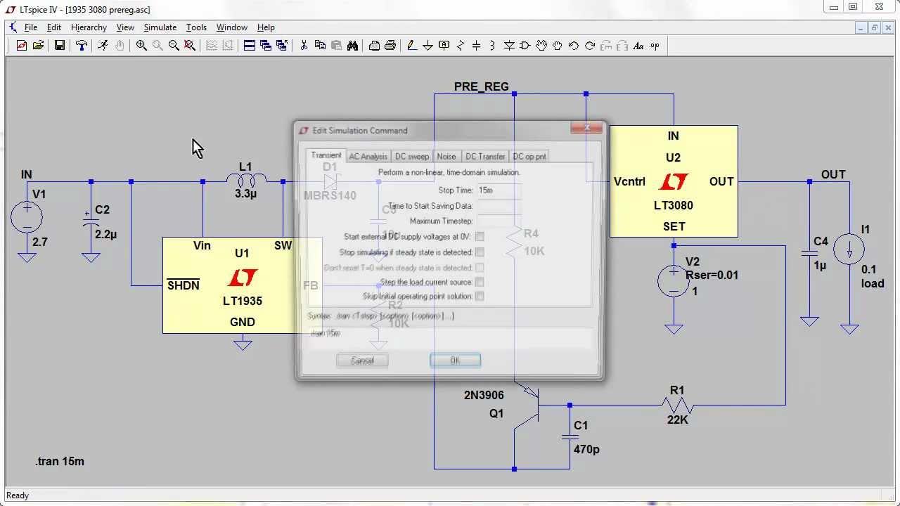 Eevblog 329 Tracking Pre Regulator Ltspice Simulation Part 2 Switching Regulators Using Lm2575 And Lm2577