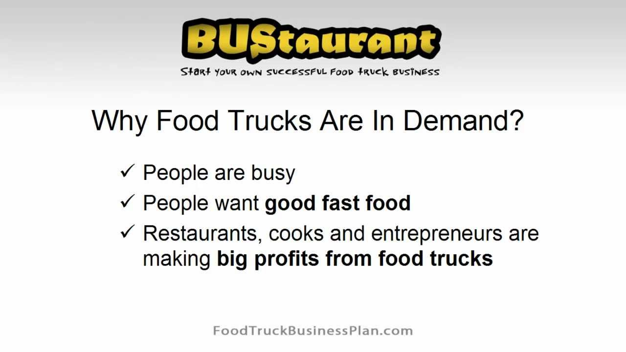 Food truck business plan youtube food truck business plan wajeb