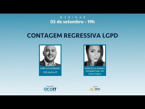 CONTAGEM REGRESSIVA  LGPD | VINICIUS DURBANO E MARCELLA AMADO | WEBINAR 1/24