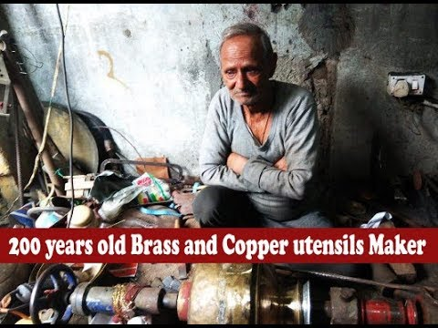 200 years old Brass and Copper utensils Maker of Jammu