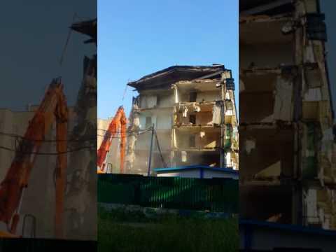 В Одинцово по улице Маршала Жукова 23 разбирают старую пятиэтажку Хрущёвку. 04.08.2017