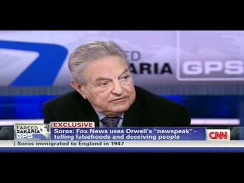 Soros rips Fox News, Murdoch: 'It has imported the methods of George Orwell, you know, newspeak'