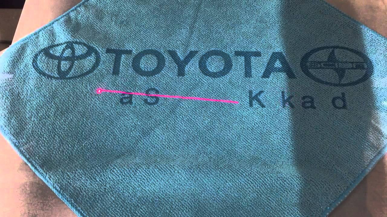 laser etched toyota microfiber towel in kirkland washington youtube