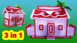 পুতির টিস্যু বক্স/How to make beaded house tissue box (part-1)/beaded weardrobe/beaded home/3 in 1