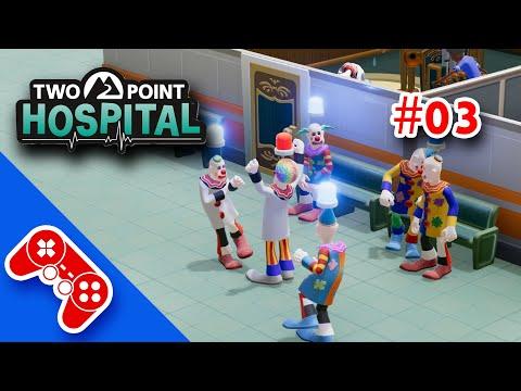 Two Point Hospital - Gameplay ita #03 : formiamo lo staff, l'invasione di clown