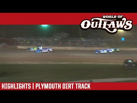 World of Outlaws Craftsman Late Models Plymouth Dirt Track July 30, 2018 | HIGHLIGHTS