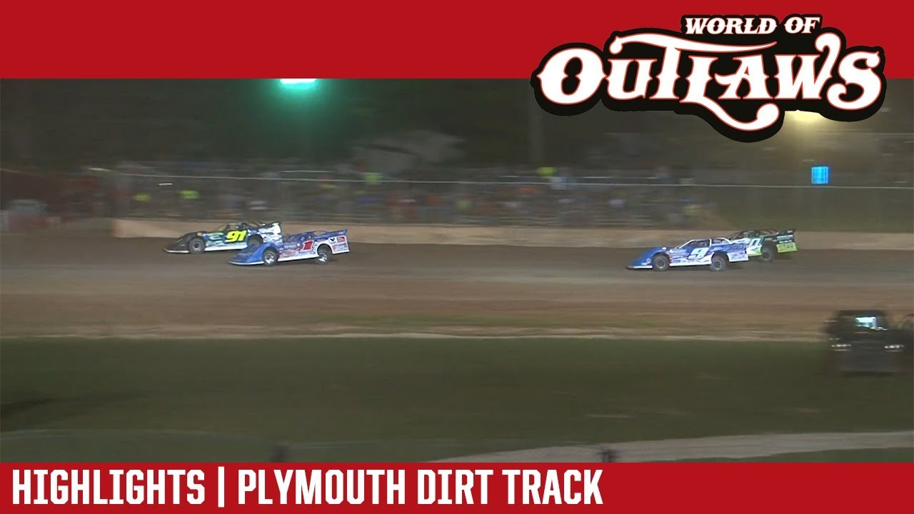 world-of-outlaws-craftsman-late-models-plymouth-dirt-track-july-30-2018-highlights
