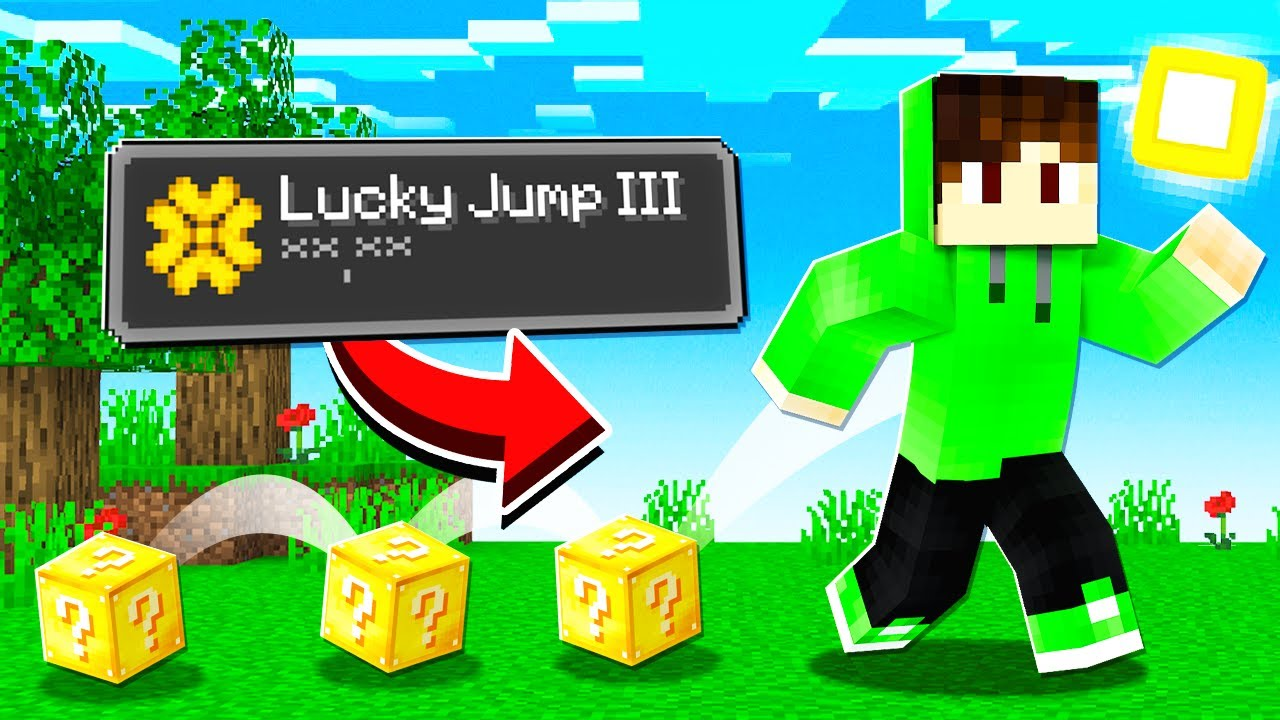 Minecraft, But Jumping Drops Lucky Blocks...